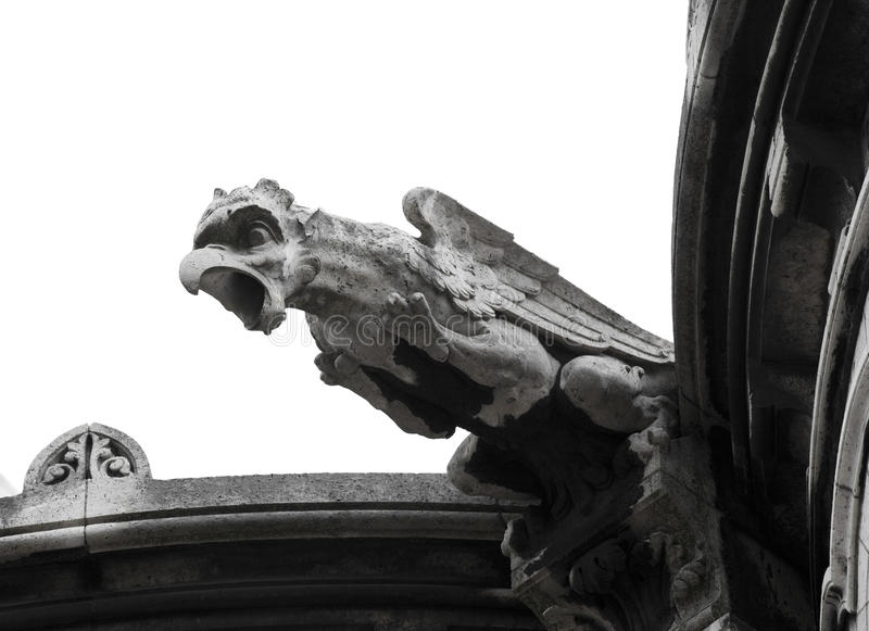 Close up of Sacre-Coeur's Gargoyle royalty free stock images