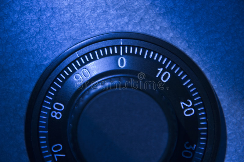 Close-Up Of Safe Dial Stock Photography