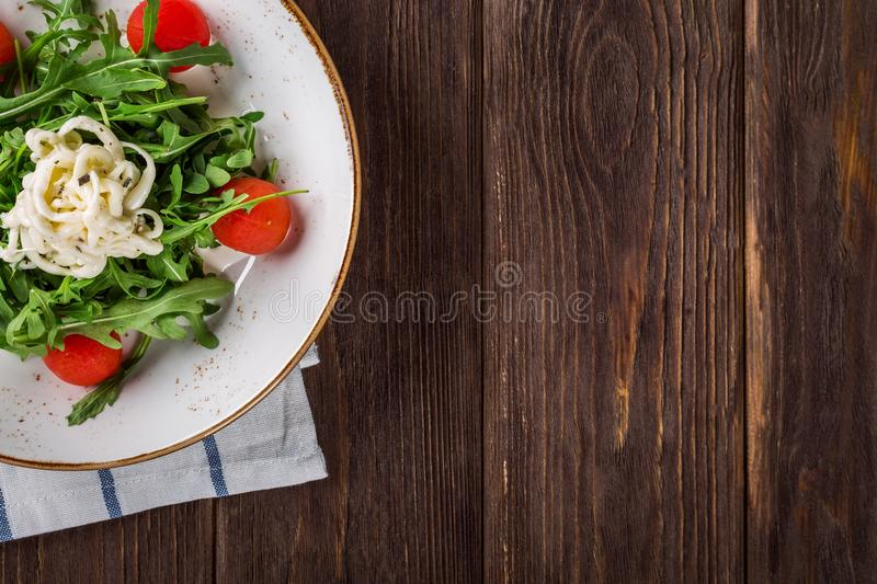Close-up of Salad on Table royalty free stock photos