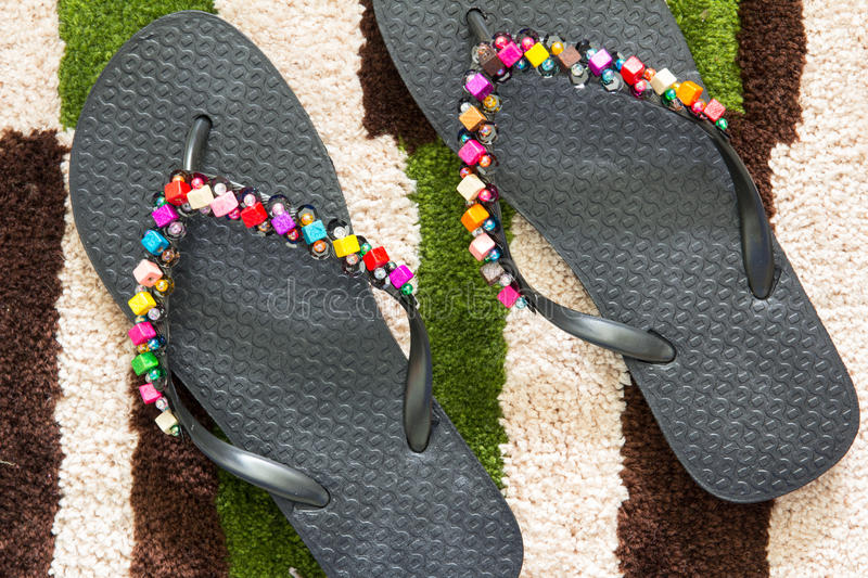 Close up sandals royalty free stock image