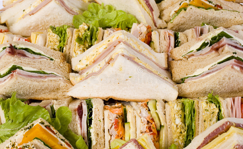 Close Up Sandwich Platter royalty free stock photos