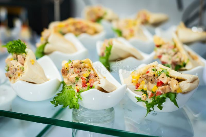 Close up sandwiches. stock images
