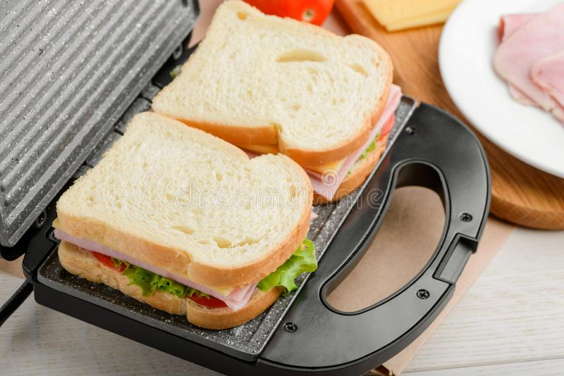 Close up on sandwiches royalty free stock image