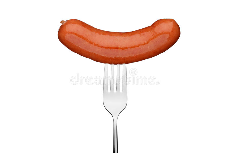 Download Close Up Of Sausage And Fork Stock Image - Image: 15189365