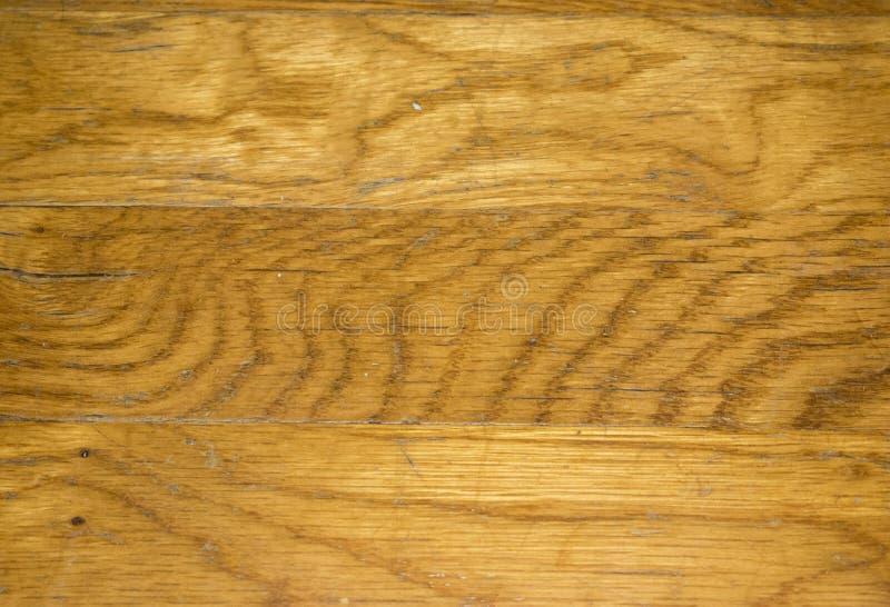 Close up Scarred do assoalho de folhosa do carvalho fotografia de stock royalty free