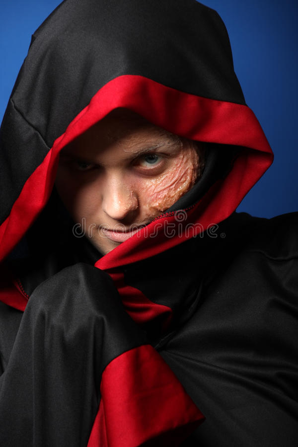Close-up of a scary dead man stock photos
