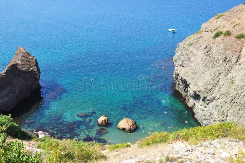 Sea Bay. Beautiful sea bay image. stock photos