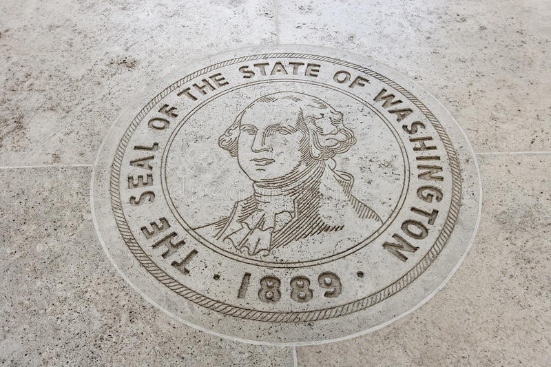 Close-up of The Seal of the State of Washington in Fort Bonifacio, Manila, Philippines stock photography