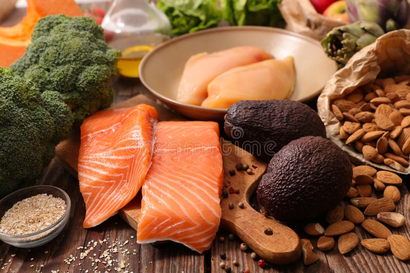 Selection of health food royalty free stock photos