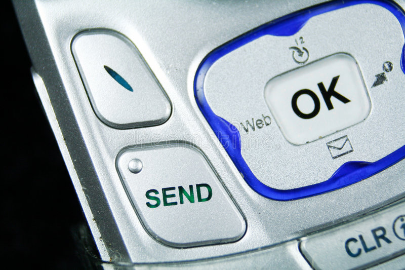 Download Close Up Of The Send Button Of A Cellular Phone Royalty Free Stock Image - Image: 1715396