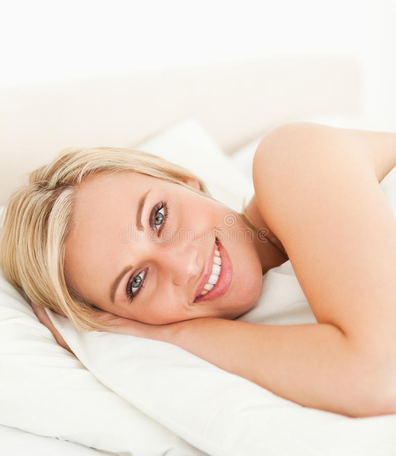 Download Close Up Of A Serene Woman Opening Her Eyes Stock Image - Image: 20504403