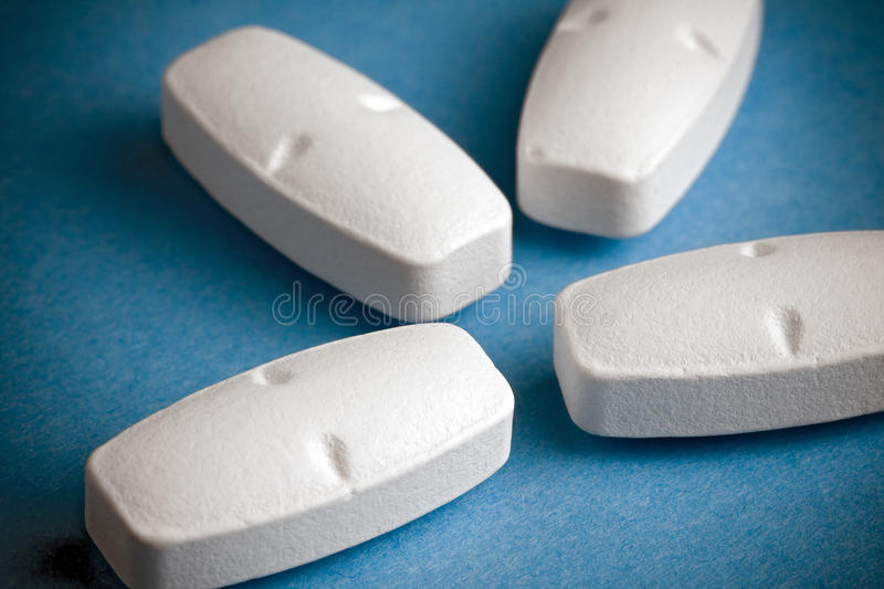 White Pills stock image
