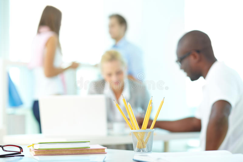 Workplace stock image