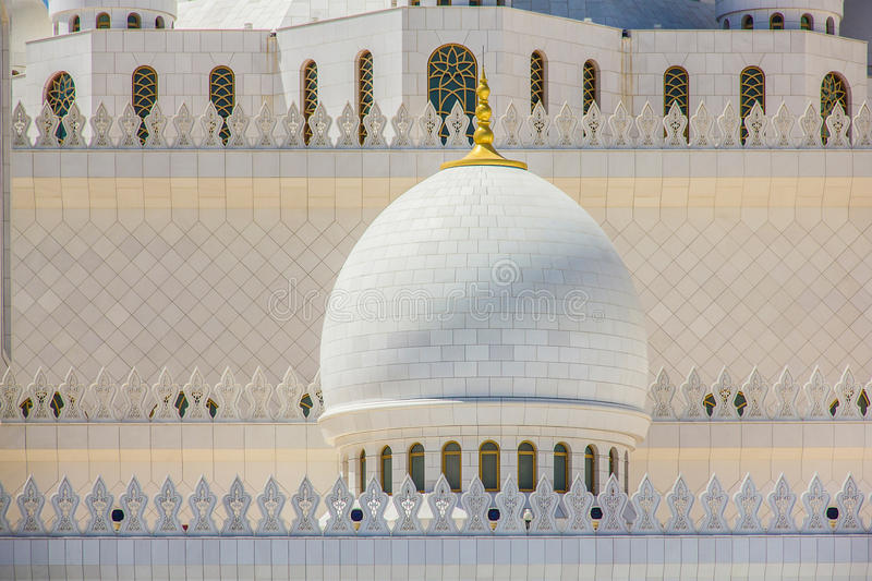 Close up of the Sheikh Zayed Mosque in Abu Dhabi, United Arab Emirates stock photos