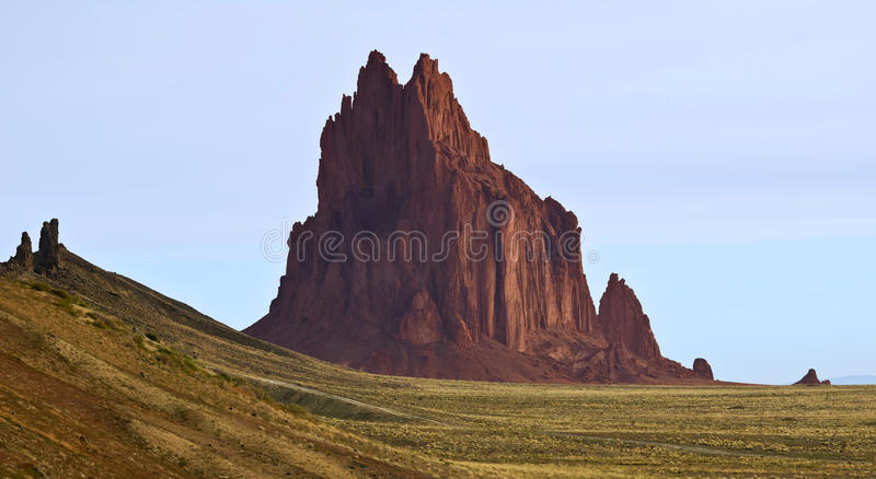 A Close Up of Shiprock in New Mexico stock images