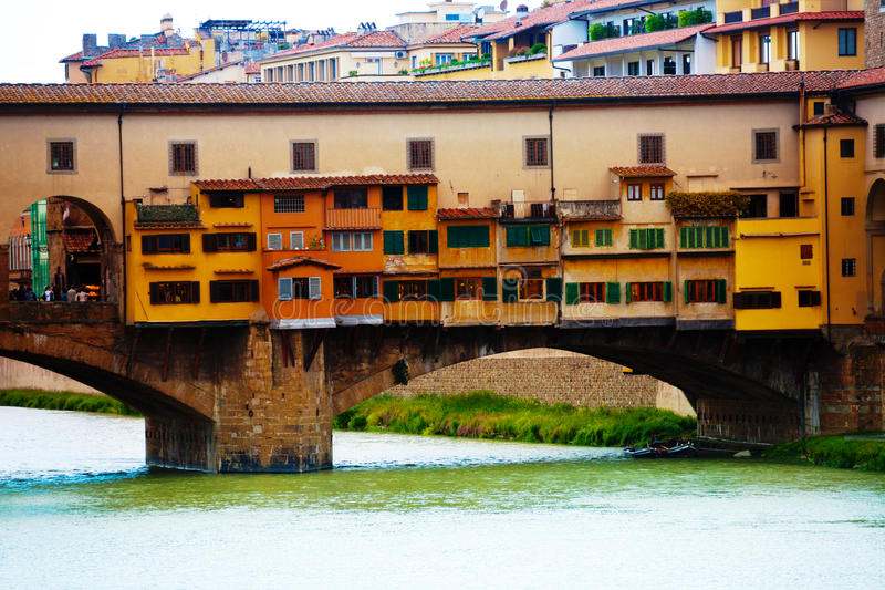 Close up shot of Arno river in Florence royalty free stock photos
