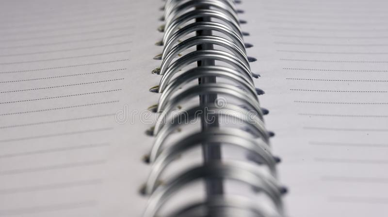 Blank spiral notebook stock image
