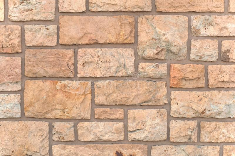 Close up texture of the square stones on a wall stock images