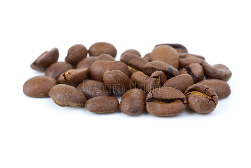 Close-up shot of coffee beans stock images