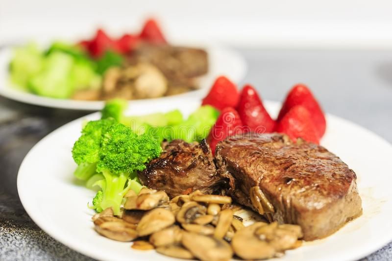 Close up shot of a delicious steak royalty free stock photo