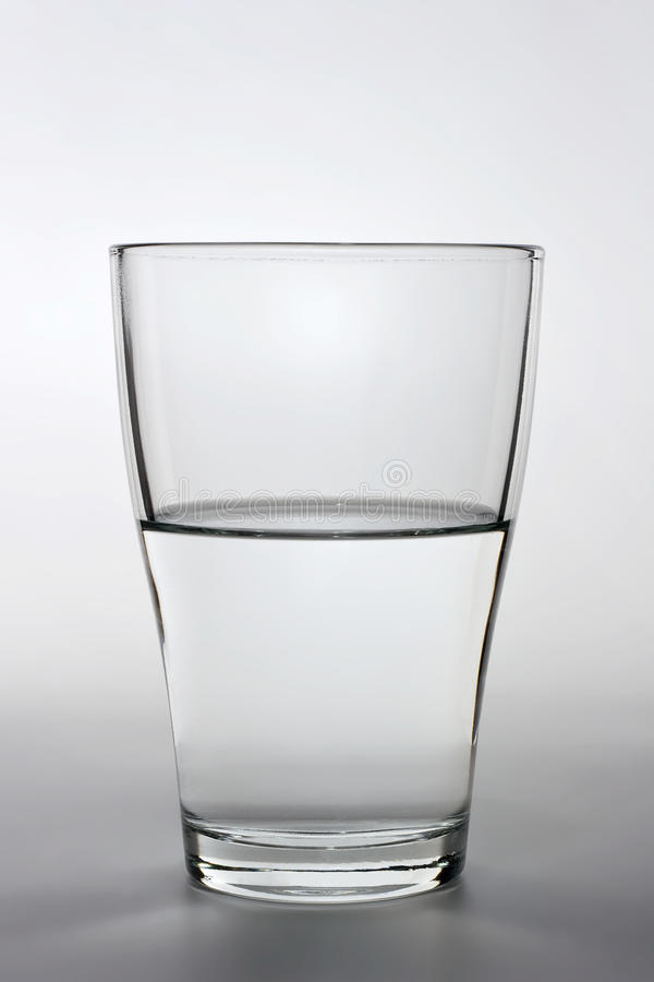 Download Close Up Shot Of An Half Full Water Glass Stock Image - Image: 13025869
