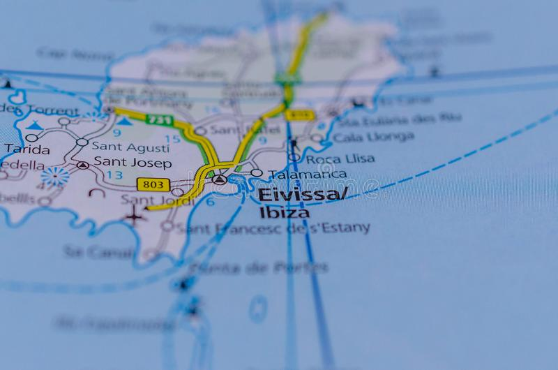Detailed Map Of East Coast Of Spain.Ibiza On Map Stock Image Image Of Europe Geography 104592423