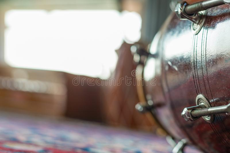 Percussion, Indian Dhol Like Drum Stock Image - Image of