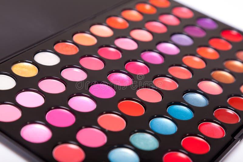 Close-up Shot Of Lip Gloss Palette Stock Photo