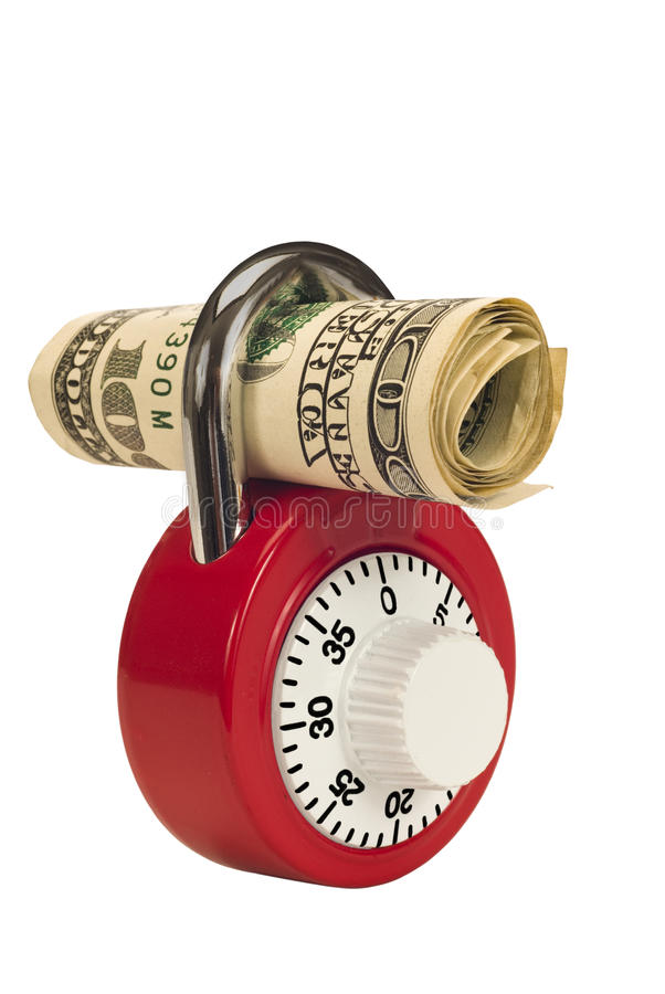 Download Money and lock on white stock photo. Image of closeup - 29952094