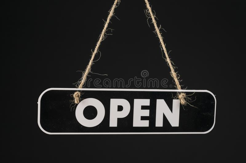 Open shop sign stock image