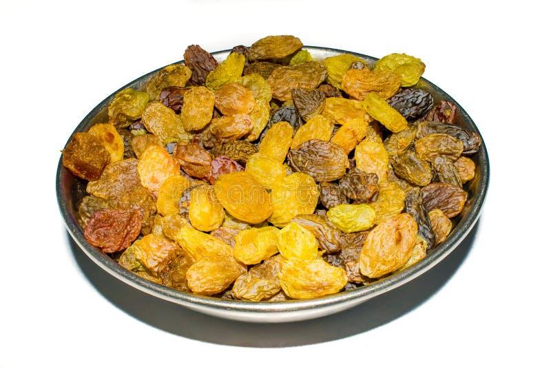 Close up shot of organic raisins,dried sweet grapes. stock photos
