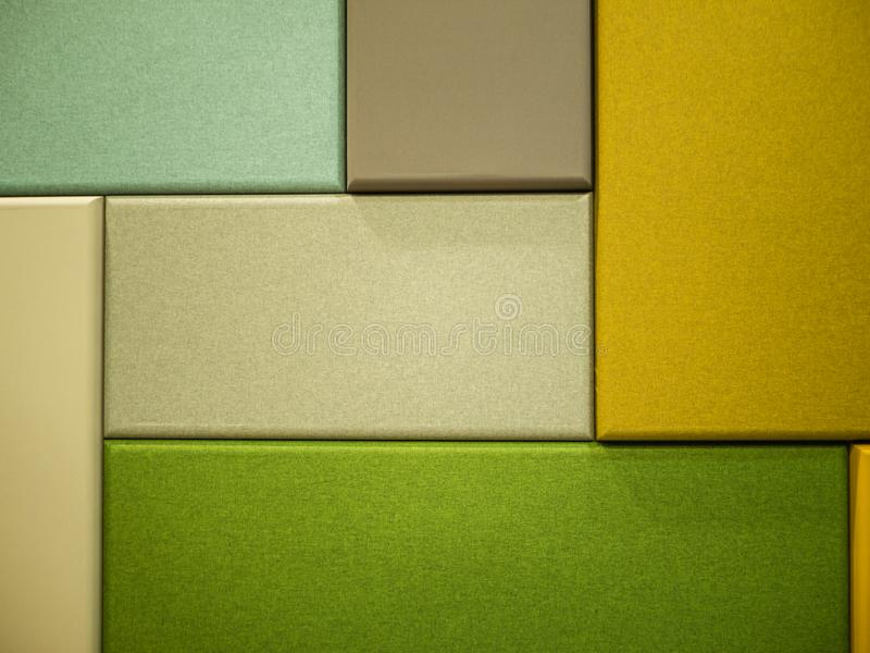 Rectangle colored fabric boards royalty free stock photo