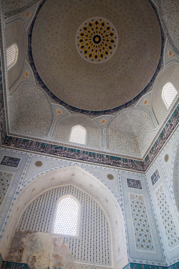 Arabic decorations on a ceiling stock photography