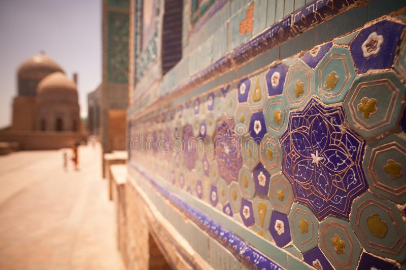 Arabic decorations on a wall stock photo