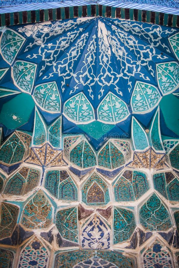 Arabic decorations on a wall stock photography