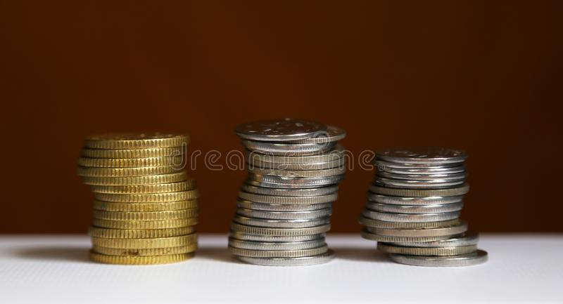 Stack of coins - finance and saving concept royalty free stock image