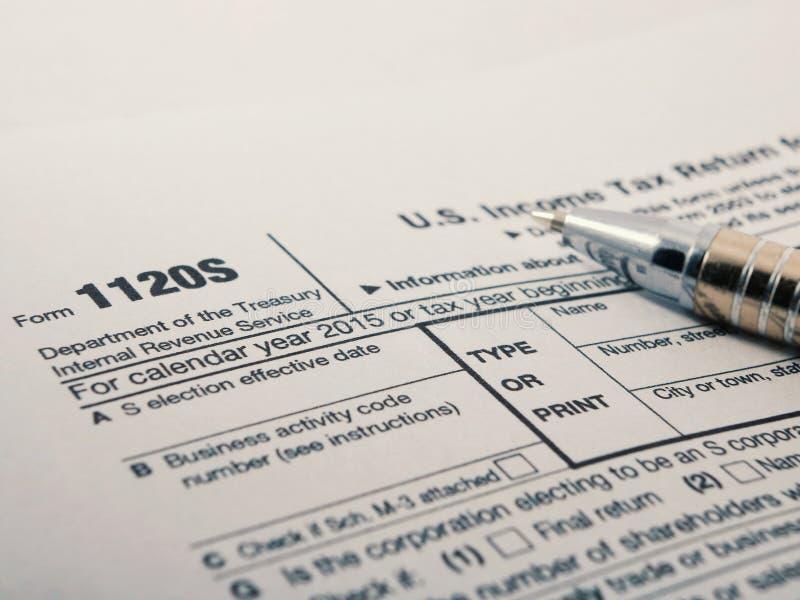 Close Up Shot Of United States Internal Revenue Service Irs Tax