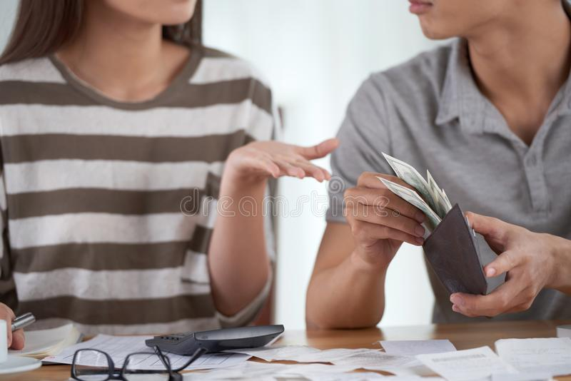 Paying for Bills stock images