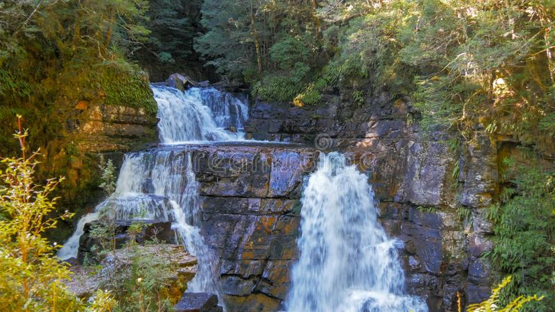 Close up shot of the upper section of d`alton falls royalty free stock images