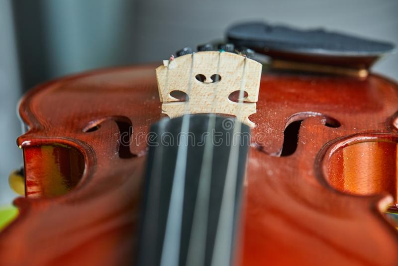 Close up shot of a violin,very soft def of field royalty free stock images