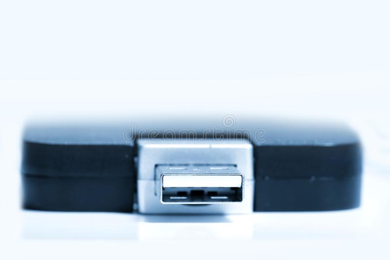 Close up shot of wide USB devise stock photography