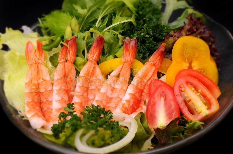 Download Close Up Shrimp And Vegetables Salad Stock Photo - Image: 33808300