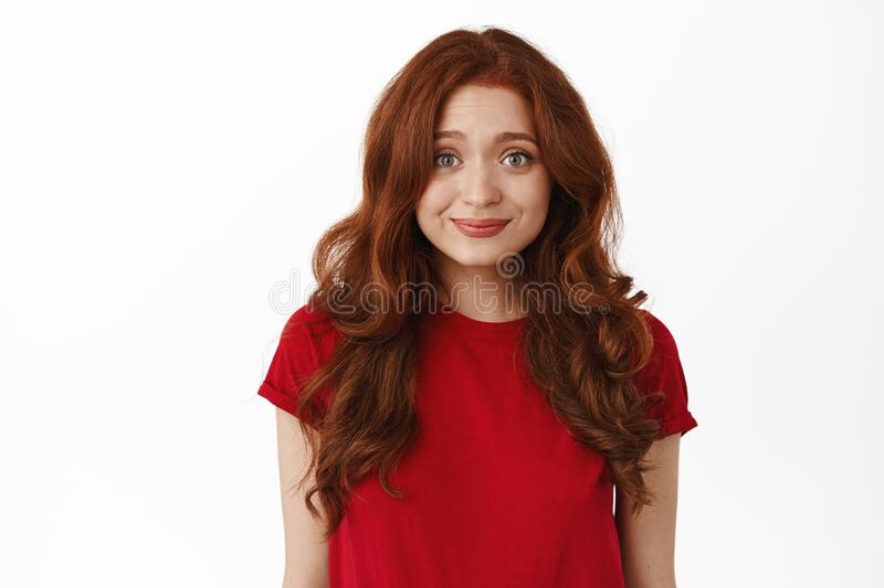 Young funny girl with glasses on a white background