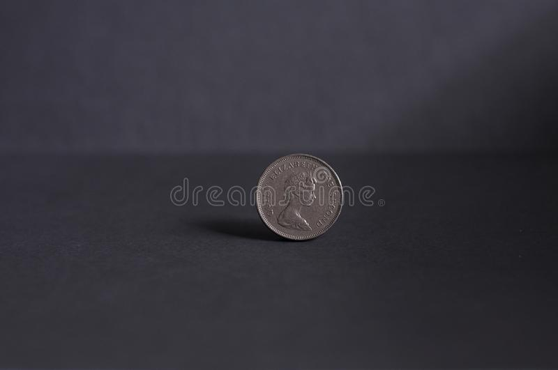 Close Up, Silver, Coin, Stock Photography royalty free stock image