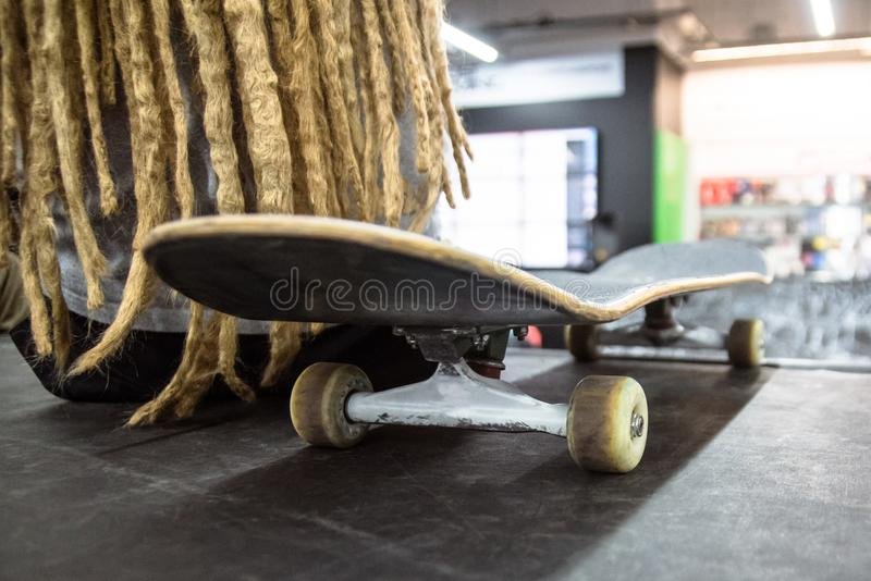 Close up skateboard parts royalty free stock photos