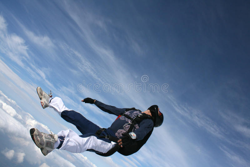 Download Close-up Of Skydiver On His Back In Freefall Royalty Free Stock Image - Image: 9932906