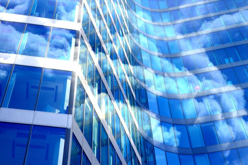 Close up of skyscraper window royalty free stock image