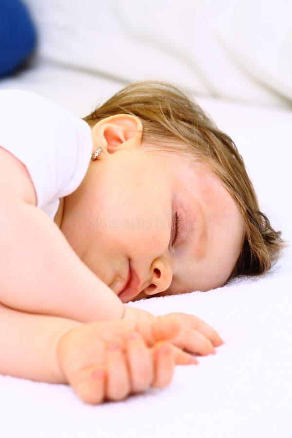 Close Up Of Sleeping Little Girl Stock Image