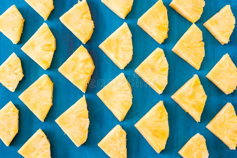 Close up slice pineapple pattern background texture. stock photography