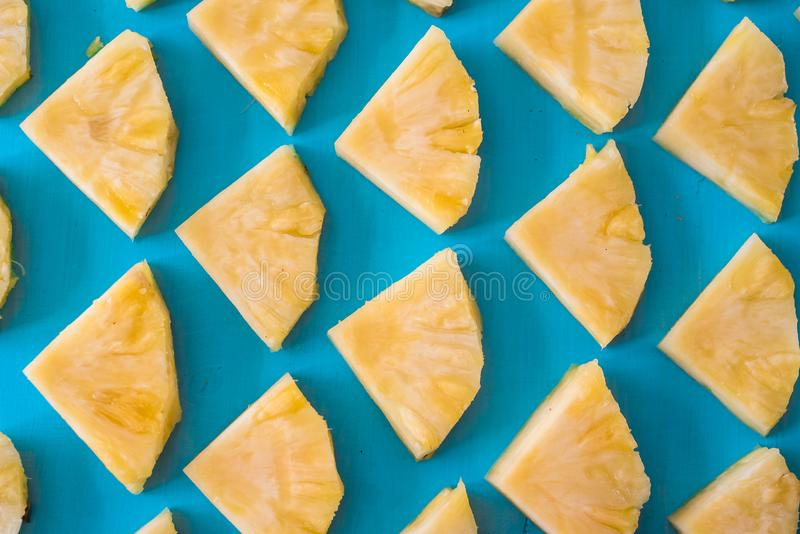 Close up slice pineapple pattern background texture. royalty free stock image
